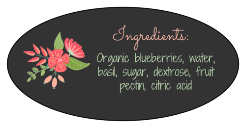 Floral Jar Ingredients Label