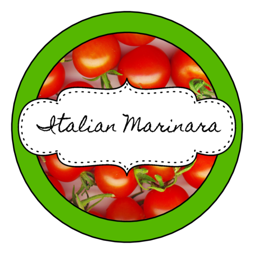 Marinara Sauce Jar Label