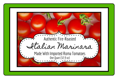 Marinara Sauce Jar Sticker