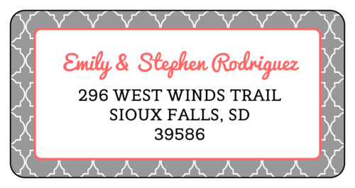 Quatrefoil Address Label