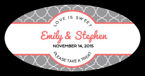 Quatrefoil Wedding Sticker