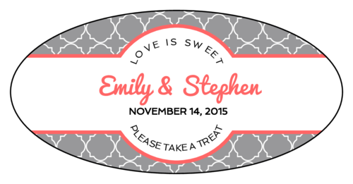 Quatrefoil Wedding Sticker