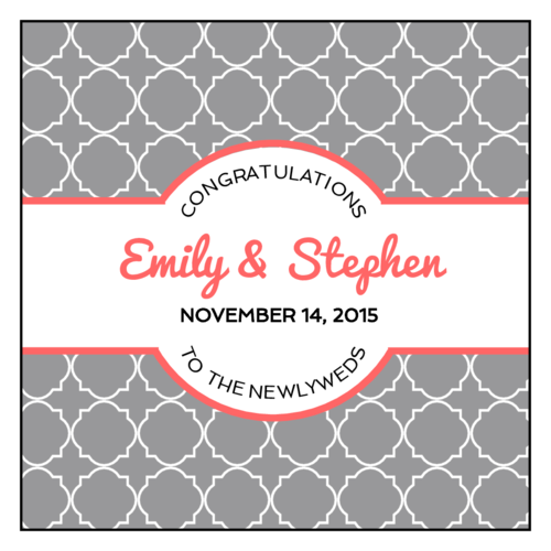 Quatrefoil Wedding Label