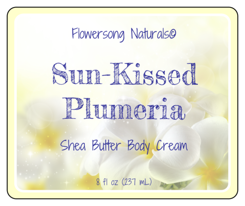 Plumeria Flower Bath Label