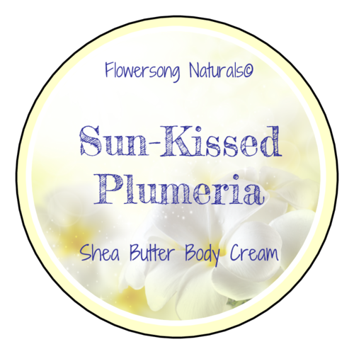 Plumeria Bath and Body Product Information Label