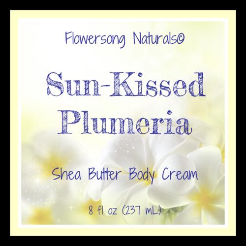 Plumeria Shea Butter Label