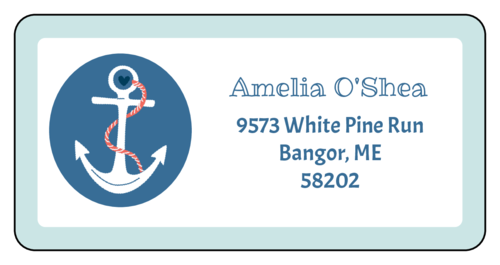 Nautical Anchor Address Label