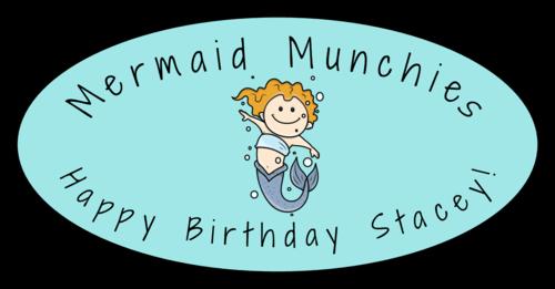Mermaid Birthday Snack Label