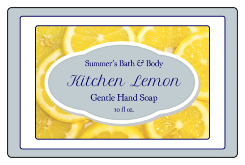Lemon Hand Soap Label