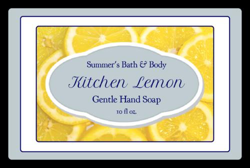 Lemon Hand Soap Label