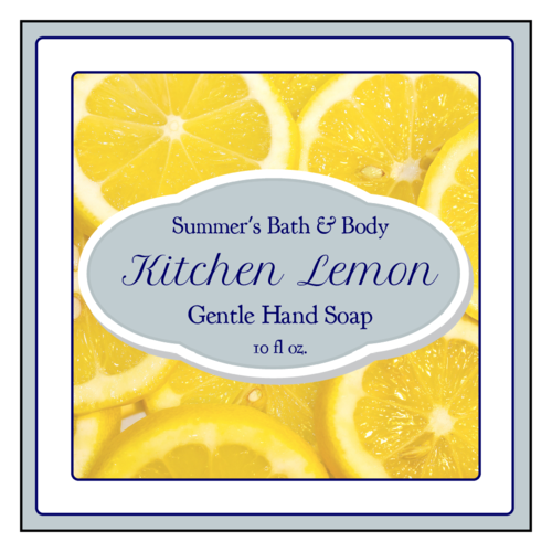 Lemon Hand Soap Sticket