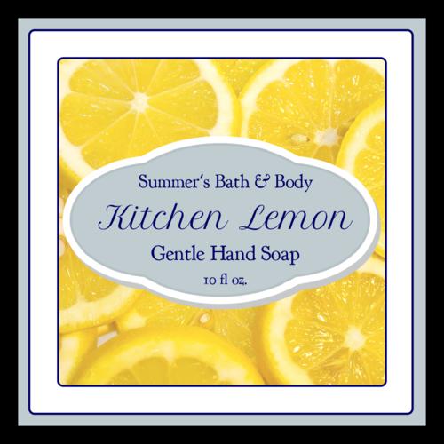 Lemon Hand Soap Sticket