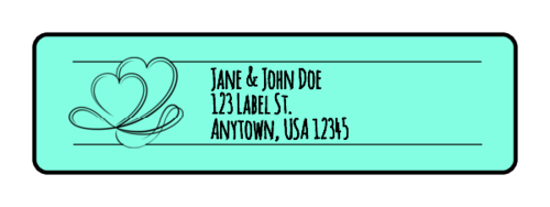 Coupled Hearts Wedding Address Label