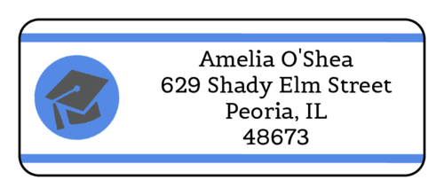 Graduation Cap Address Label