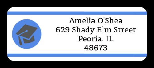 Graduation Cap Address Label
