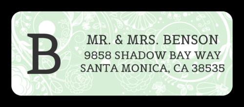 Floral Monogrammed Address Label