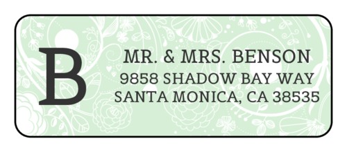 Floral Monogrammed Address Label