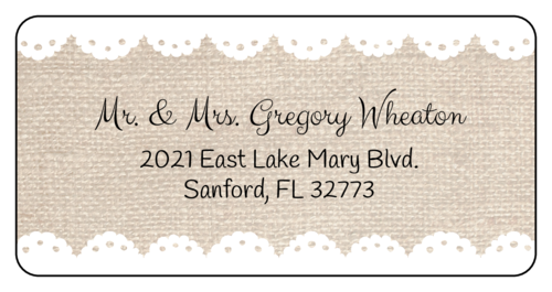 Burlap & Lace Address Label
