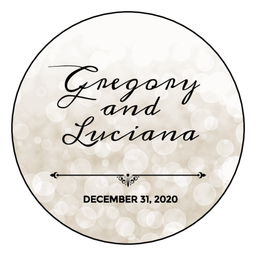 Bokeh Wedding Announcement Label