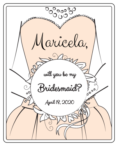 Bridesmaid Proposal Wine Bottle Label