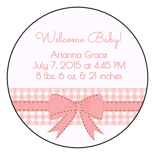 Birth Announcement Label