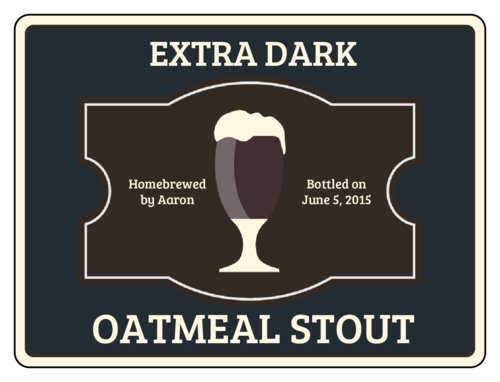 Oatmeal Stout Beer Bottle Label