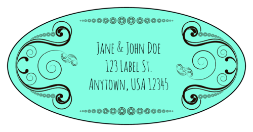 Calligraphic Address Label