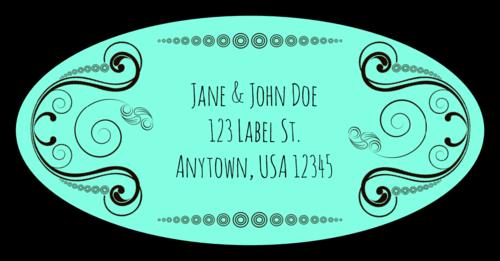 Calligraphic Address Label