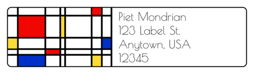 De Stijl Address Label