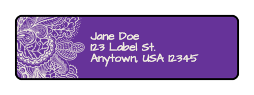 Paisley Address Label