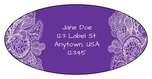 Bright Paisley Address Label