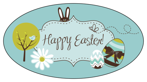 """Happer Easter"" Decorative Label"