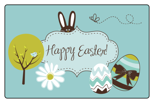 """Happy Easter"" Label"