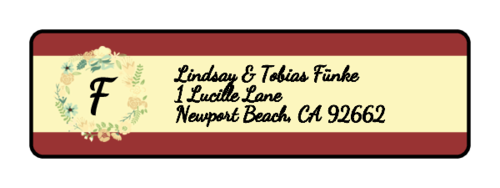 Florid Wedding Address Label