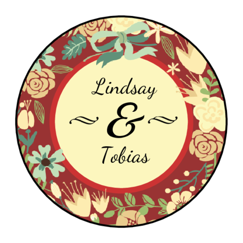 Florid Wedding Label