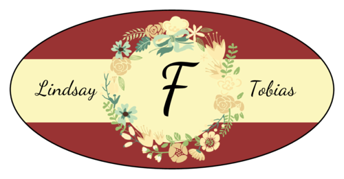 Florid Wedding Monogram Label