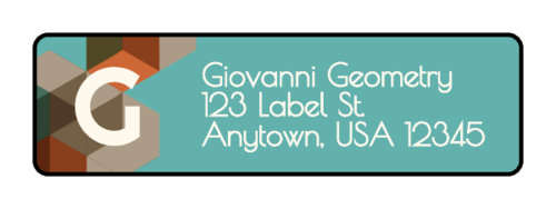 Geometric Address Label