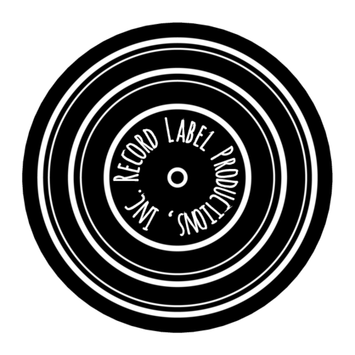 Vinyl Record Circle Label
