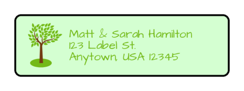 Tree Address Label