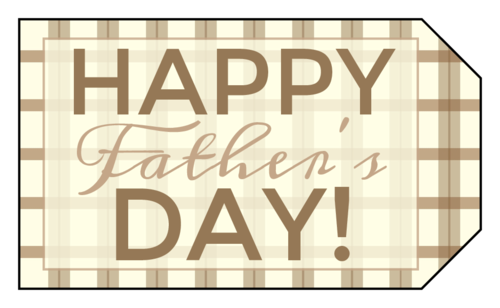 Golf Plaid Father's Day Gift Tag