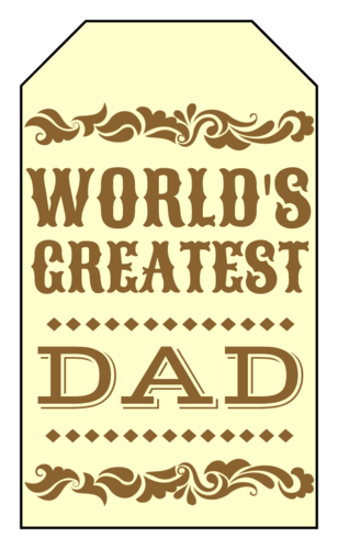 Western-Themed Father's Day Gift Tag