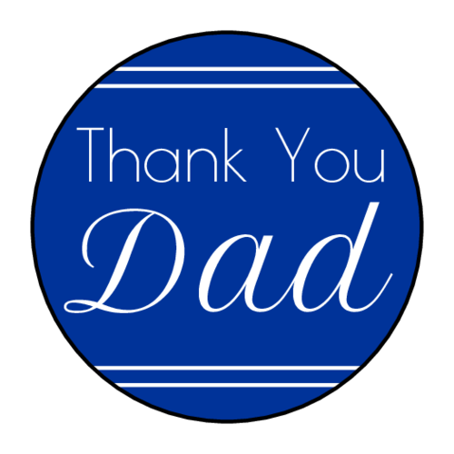 """Thank You, Dad"" Father's Day Sticker"