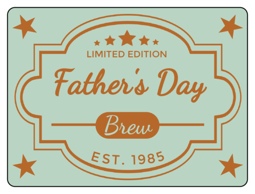 Father's Day Brew Beer Bottle Label