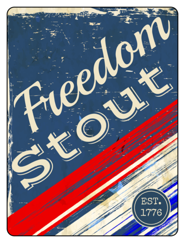 Freedom Stout Fourth of July Beer Bottle Label