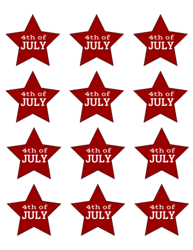 Fourth of July Star Sticker
