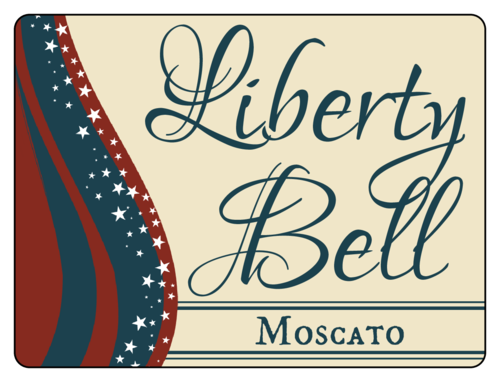 Liberty Bell Fourth of July Wine Bottle Label