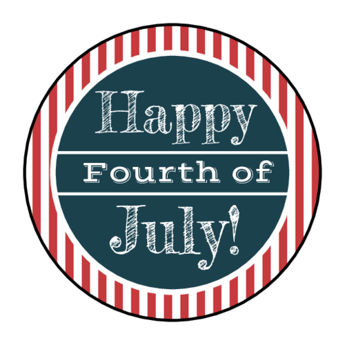 Striped Fourth of July Sticker