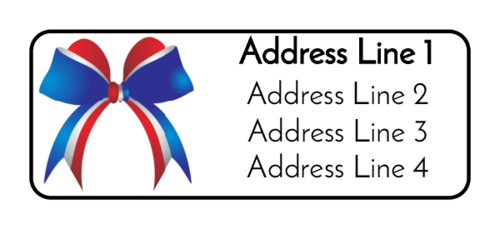 Fourth of July Bow Address Label