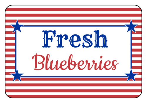 Striped Fourth of July Snack Label