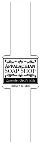 Apothecary-Style Soap Band Label